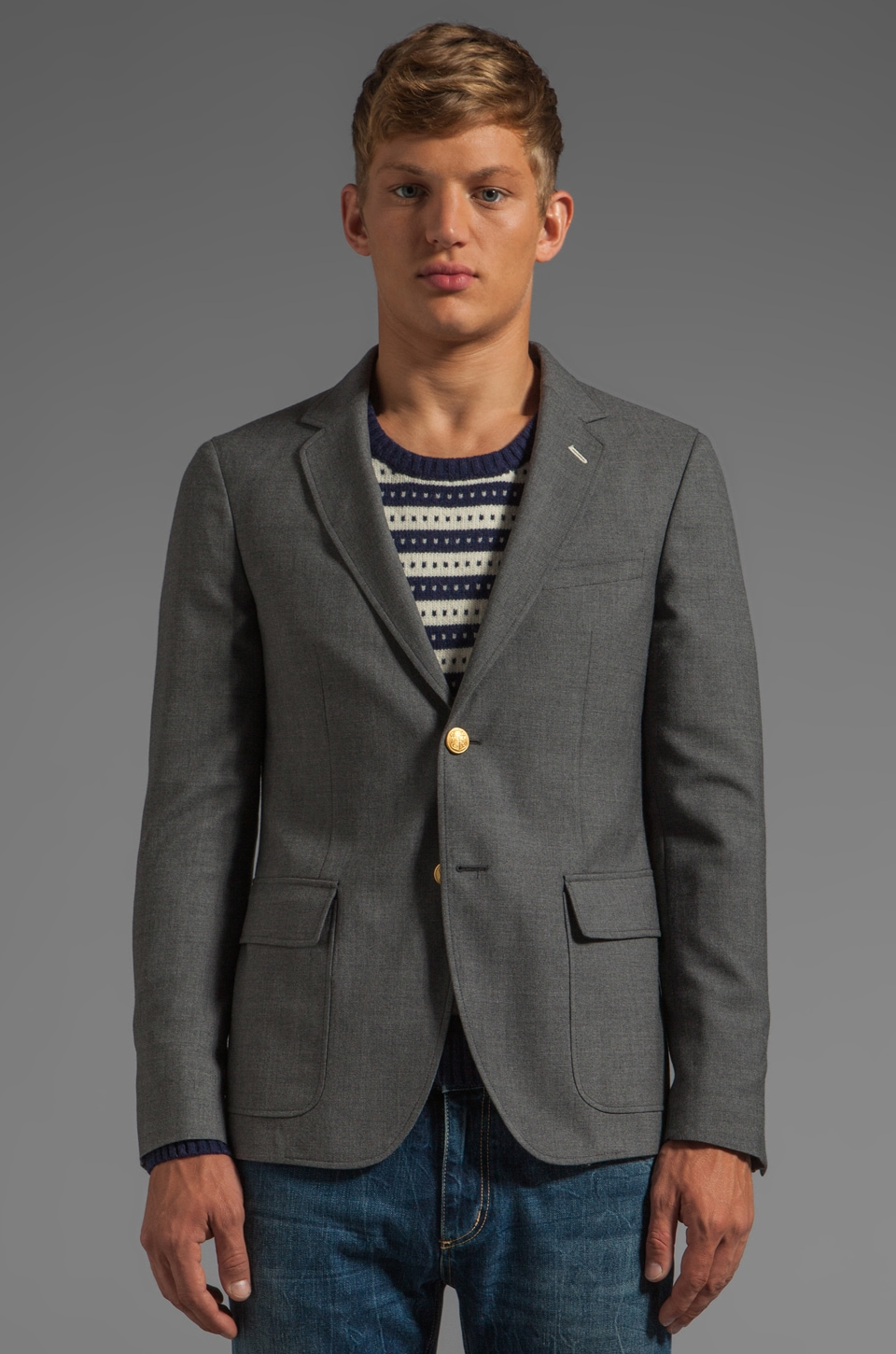 GANT Rugger The Hopsack Blazer in Grey