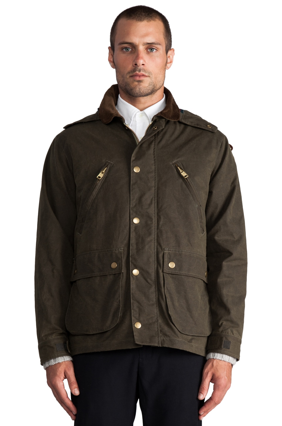 GANT Rugger Wax Your Back Jacket en Field Green