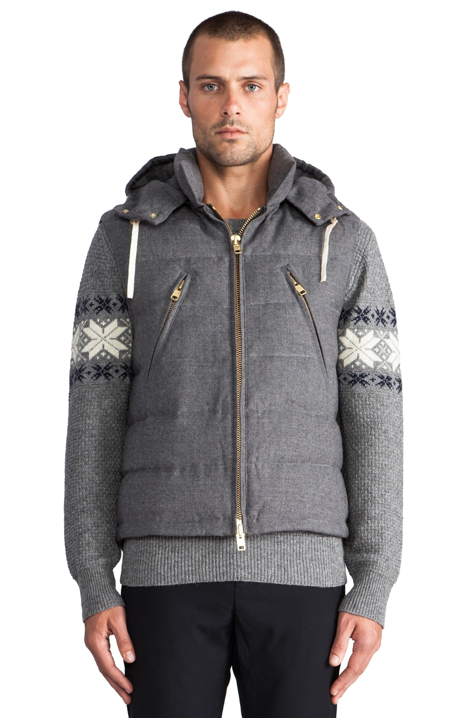 GANT Rugger Puffer Vest in Grey
