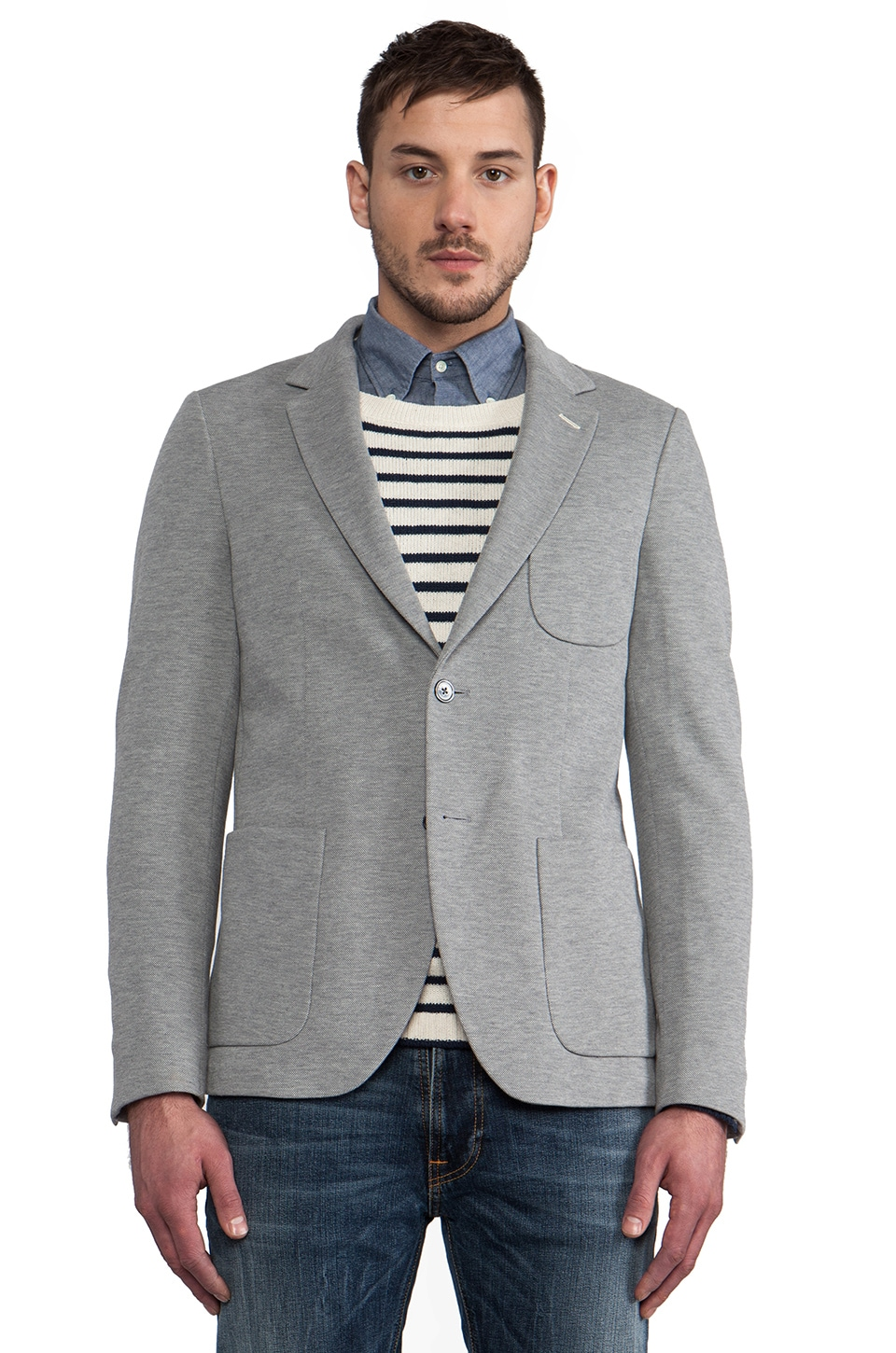 GANT Rugger Unconstructed Blazer in Grey