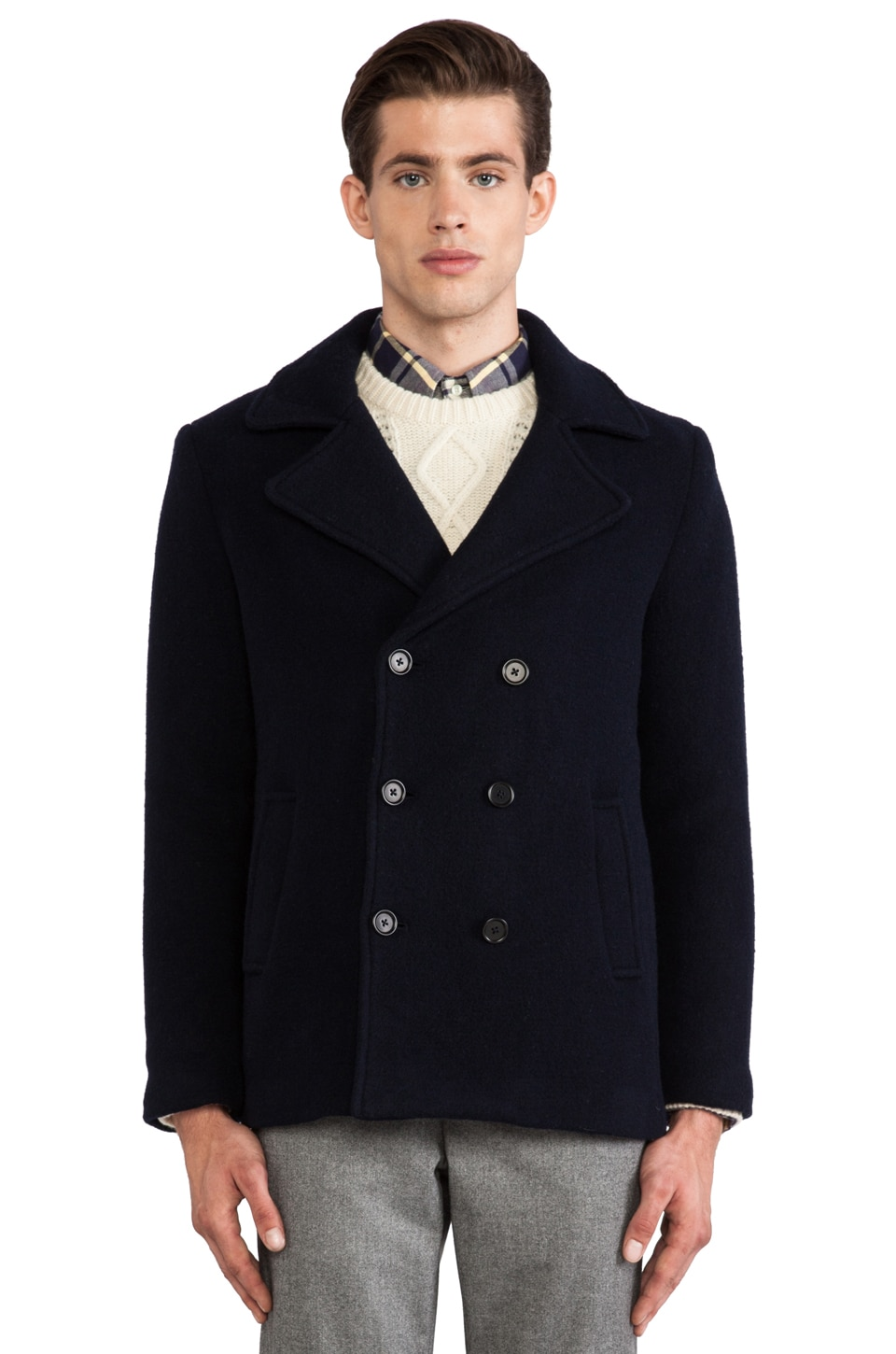 GANT Rugger Scruffy Peacoat in Navy