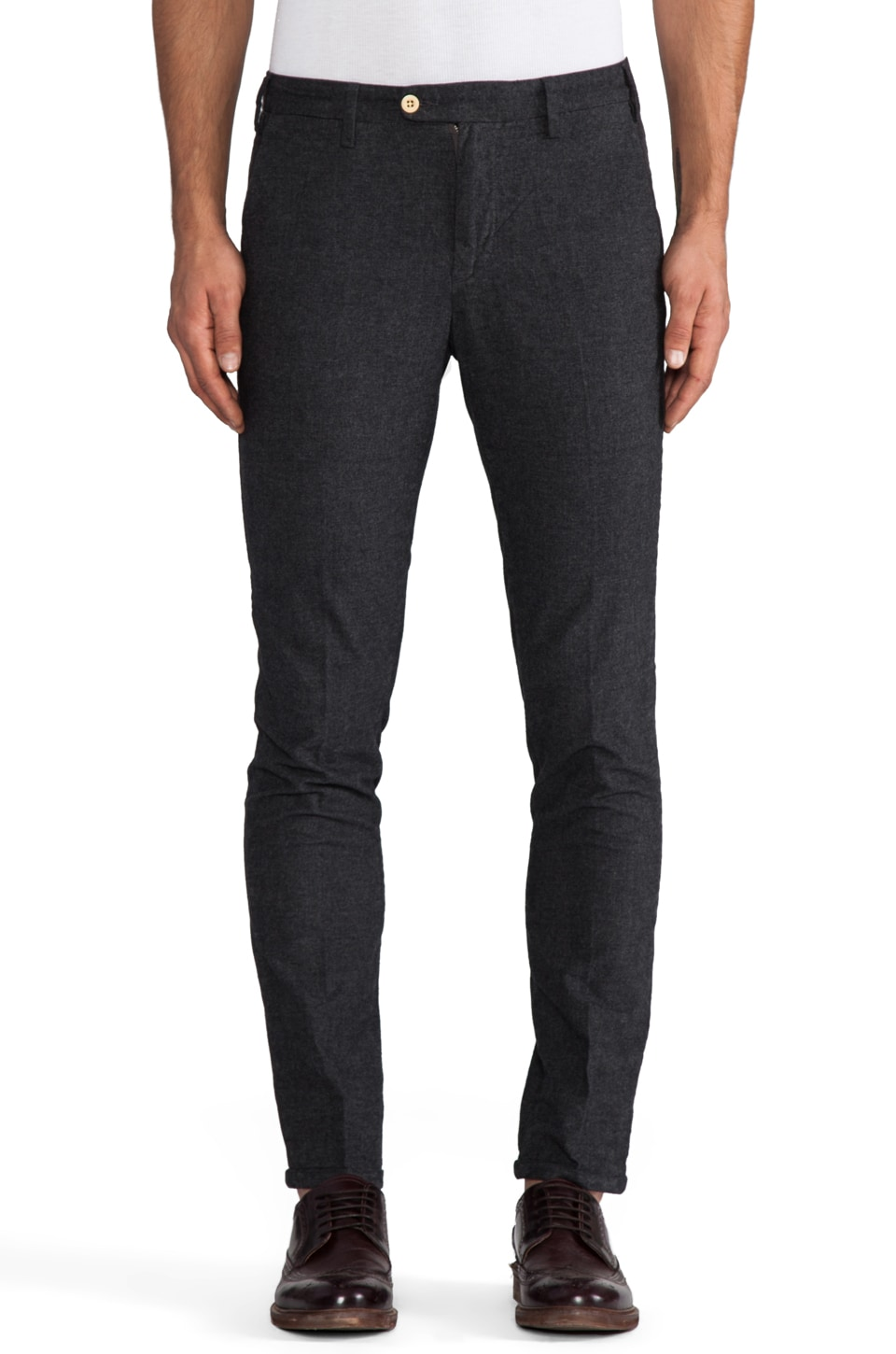 GANT Rugger Grandpa Pant in Charcoal Melange
