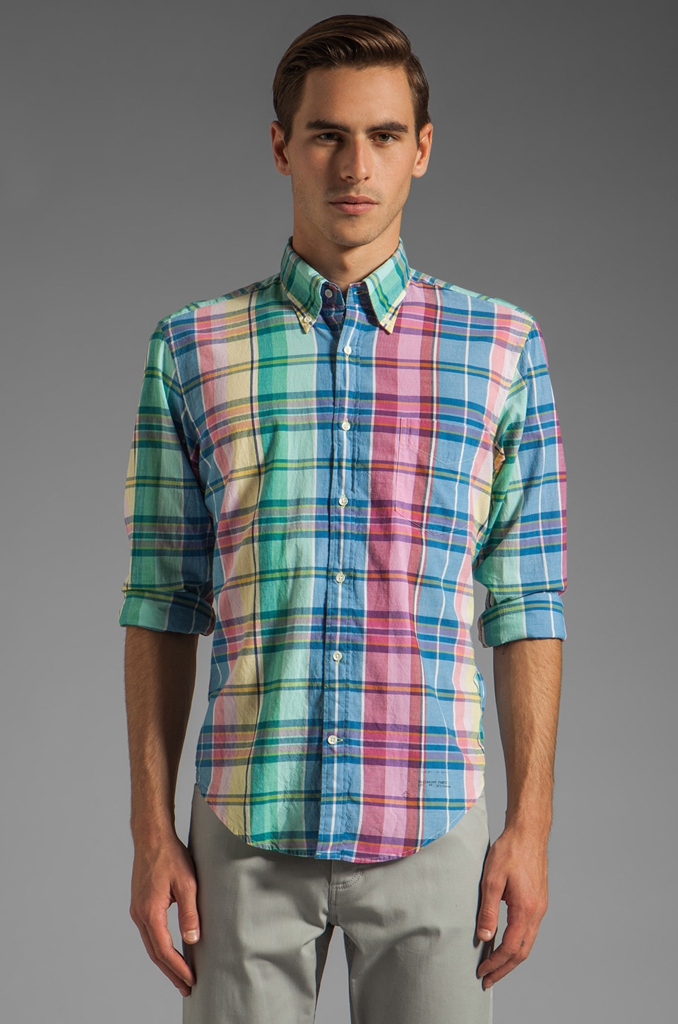 GANT Rugger India Madras E-Z OBD Shirt in Multi