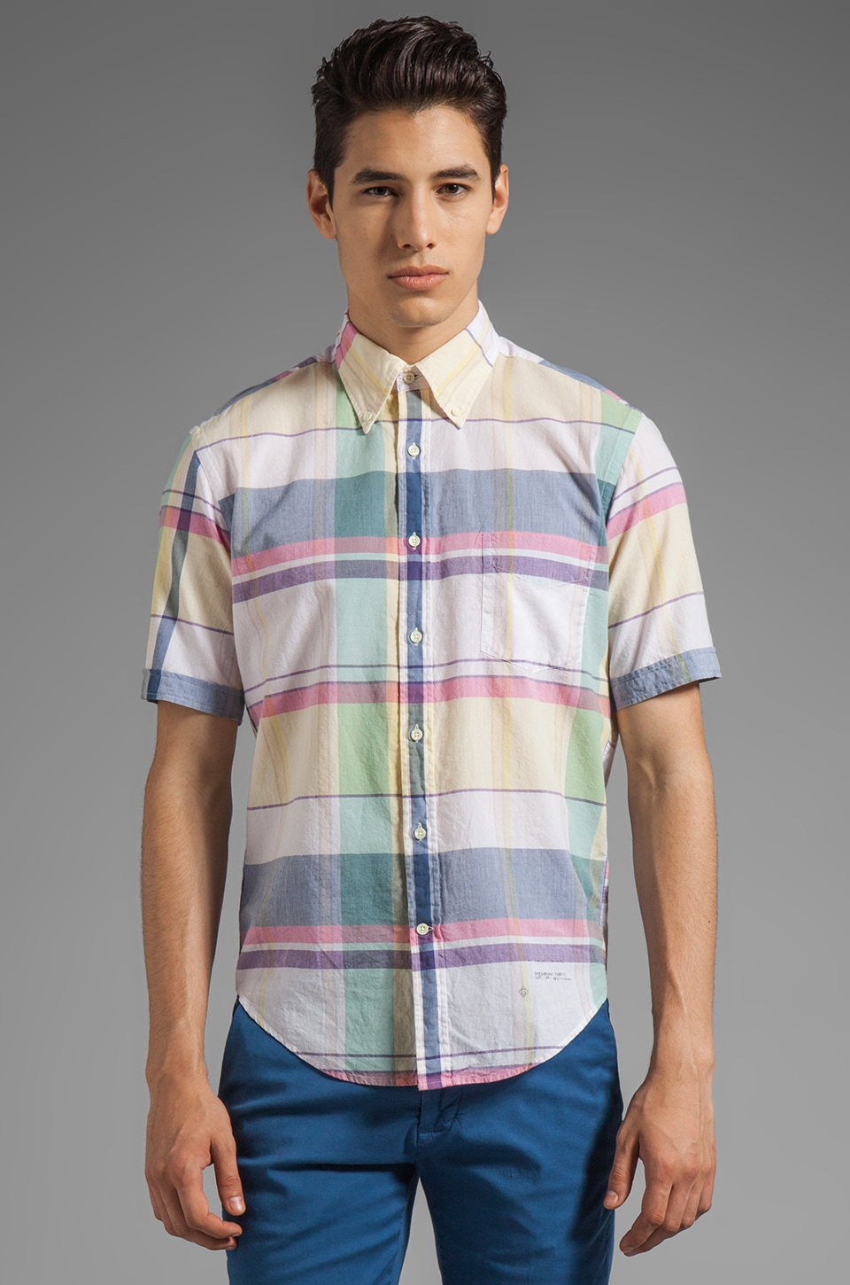 GANT Rugger Handloom Madras Short Sleeve EZ OBD