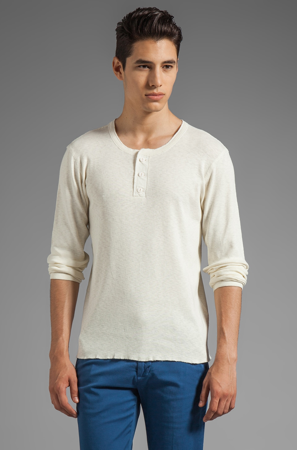 GANT Rugger The Grandpa Henley in Cream