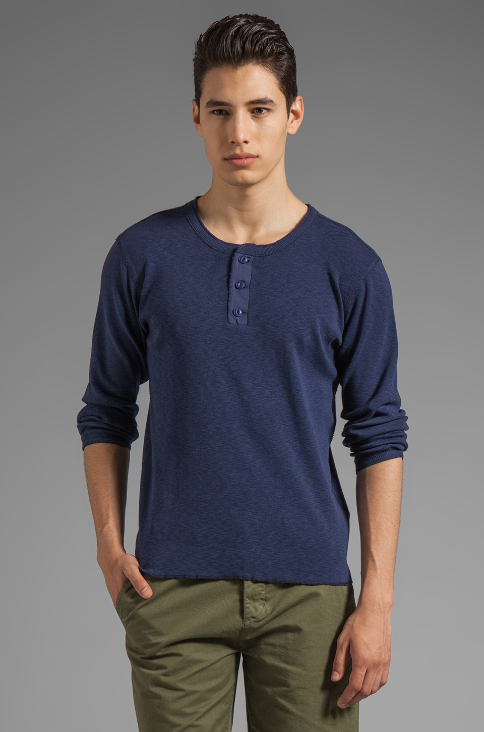 GANT Rugger The Grandpa Henley in Navy
