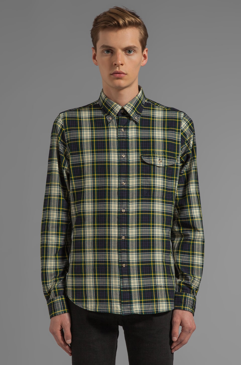 GANT Rugger Bleecker Twill Tartan Button Down in Green Multi