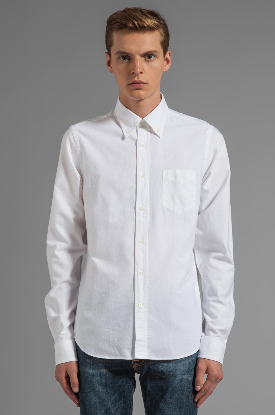 GANT Rugger Kick Ass Oxford in White