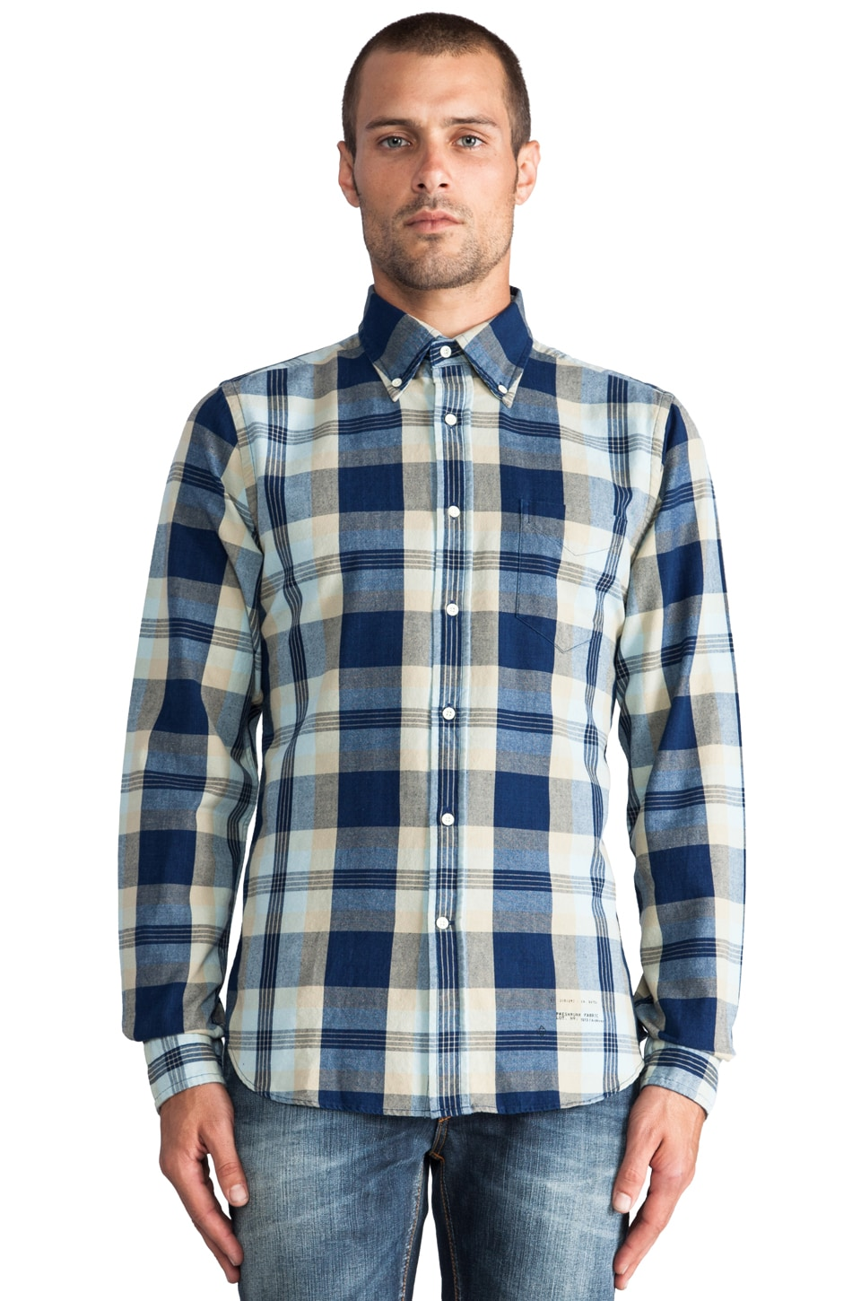 GANT Rugger Indigo Oxford Check in Indigo
