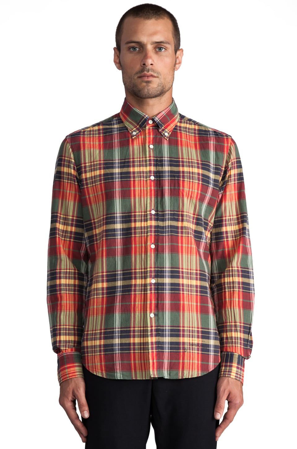 GANT Rugger Fall Madras E-Z Button Down in Red Multi