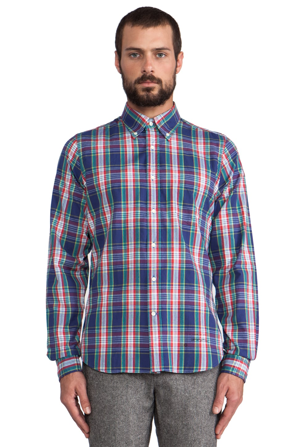 GANT Rugger Dreamy Oxford Check Button Down in Blue Check