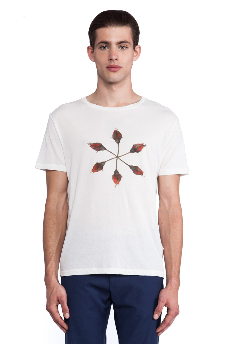 GANT Rugger Rose Tee in Cream