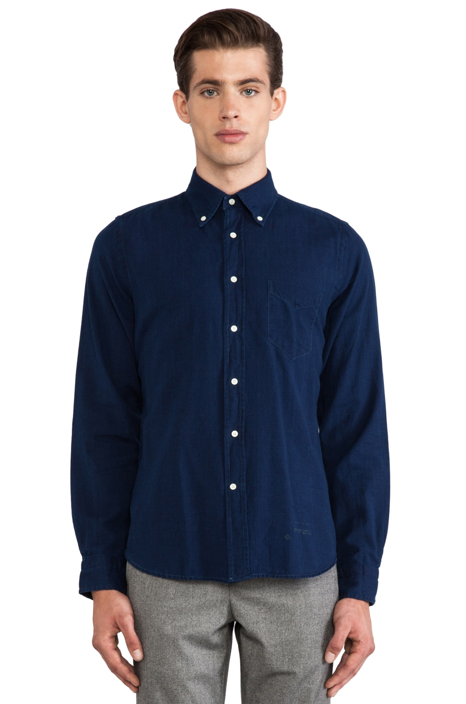 GANT Rugger Indigo Oxford in Dark Indigo