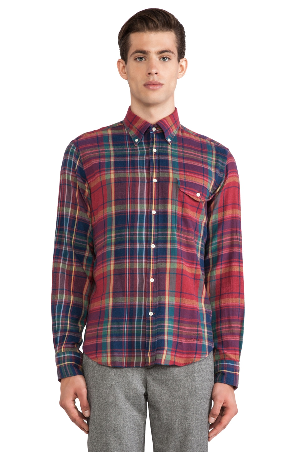 GANT Rugger Windblown Flannel in Red