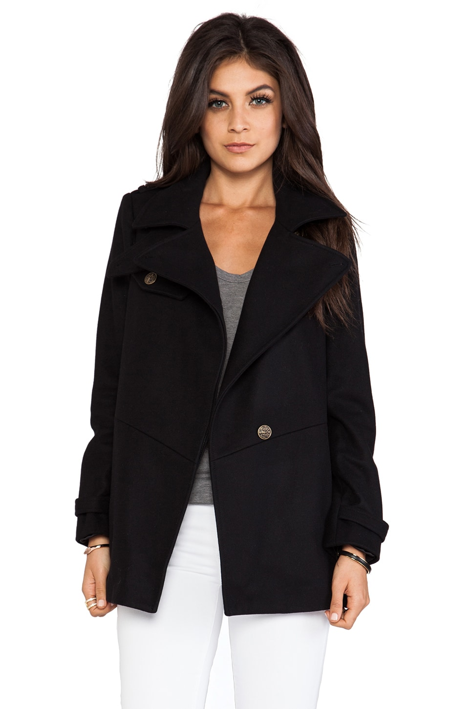 Gryphon Latch Coat in Black