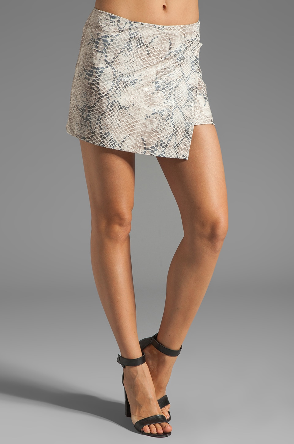 Gryphon Wrap Skirt in Cream