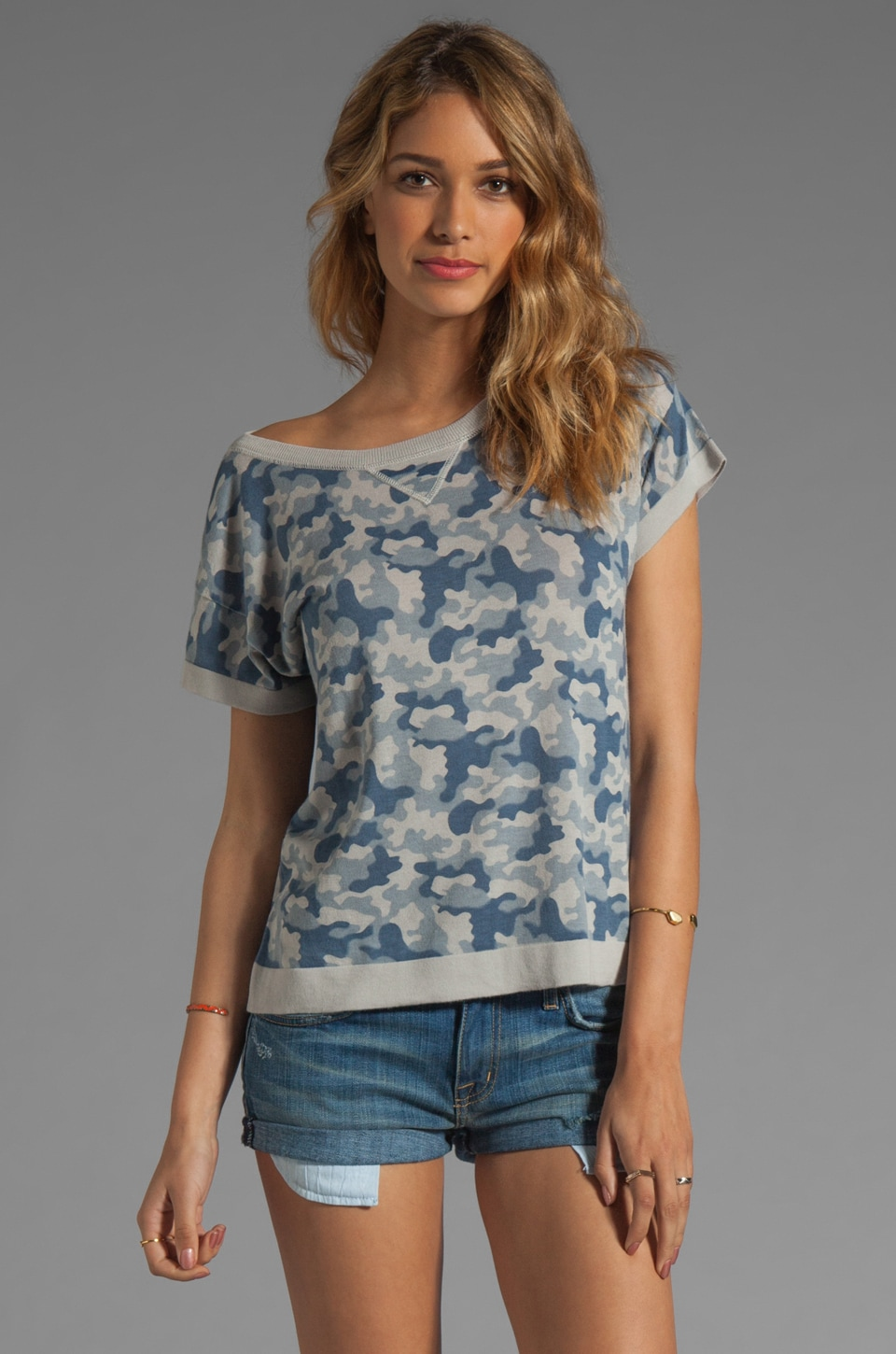 Gryphon Camo Tee in Denim
