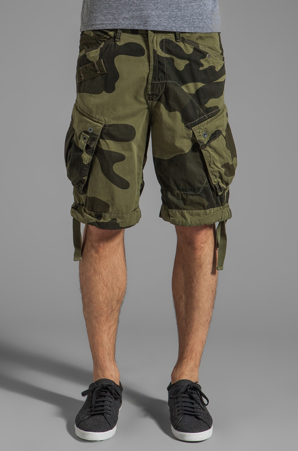 G-Star Rovic Loose Camouflage 1/2 Short in Sage