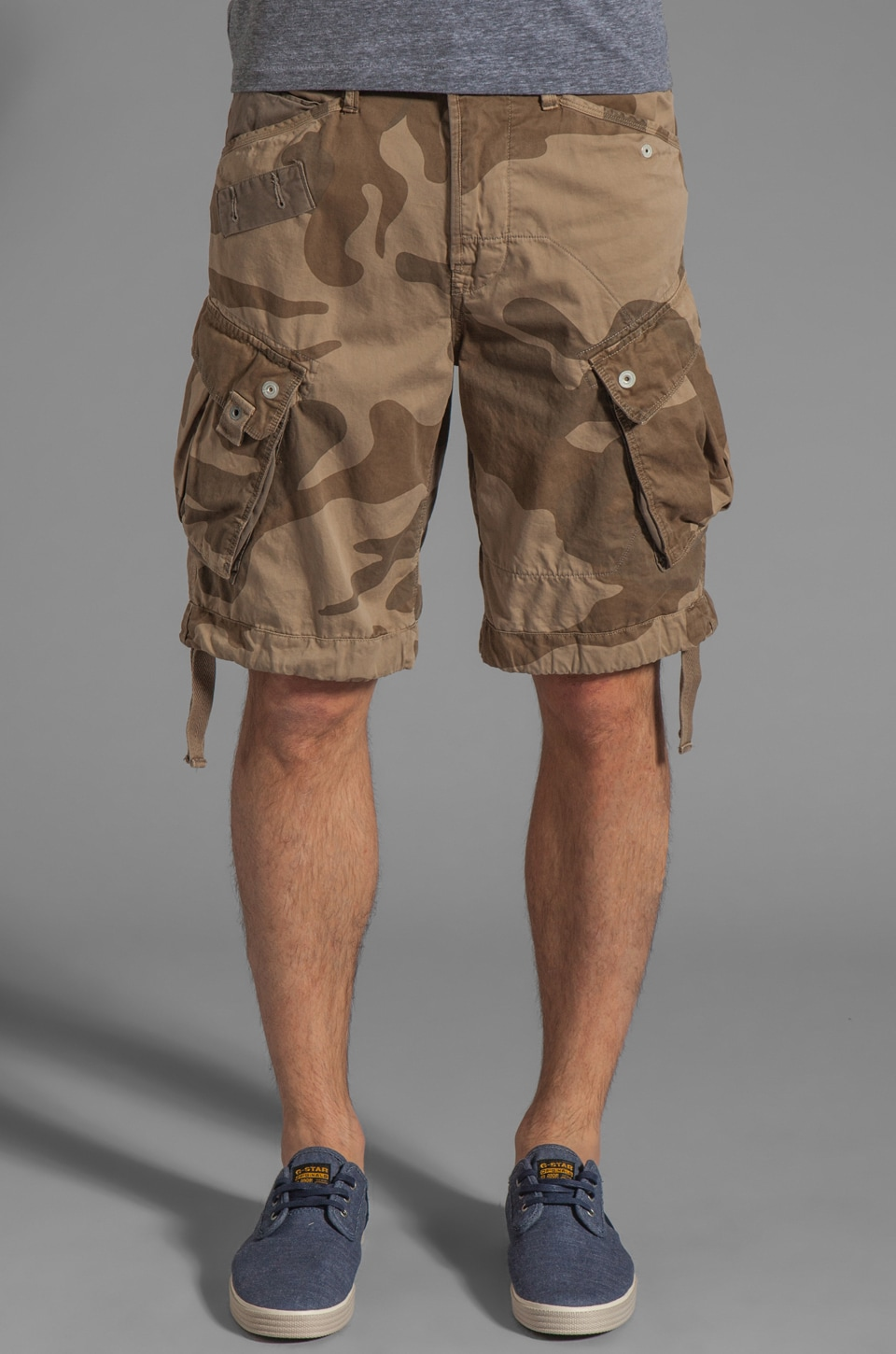 G-Star Rovic Loose Camouflage 1/2 Short in Grege