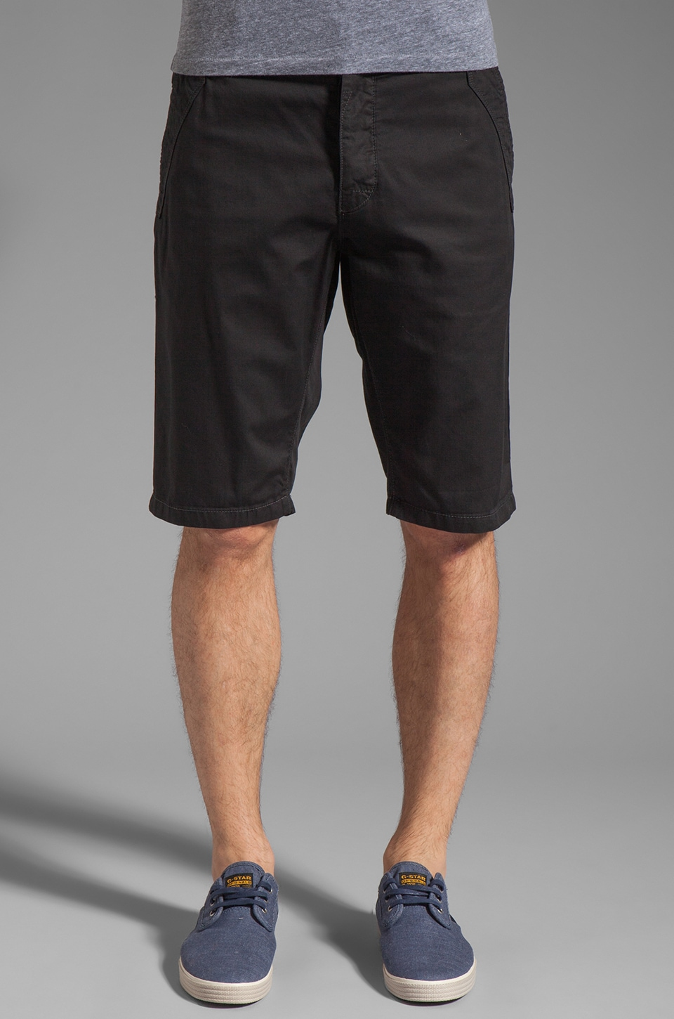G-Star Western Bronson Chino Straight 1/2 Short in Black