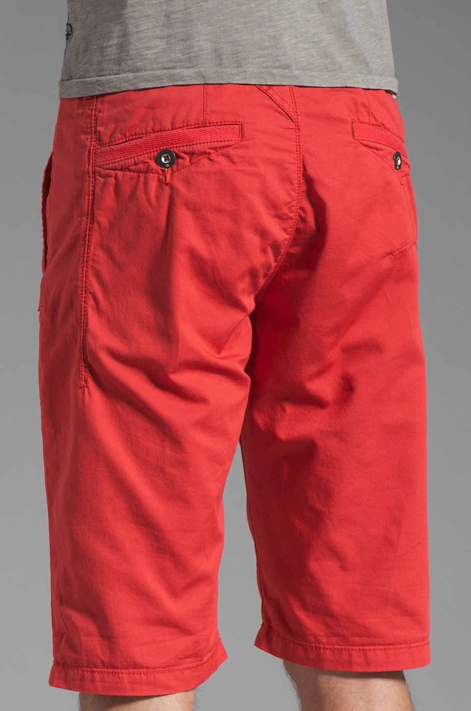 G-Star Western Bronson Chino Straight 1/2 Short in Ketchup