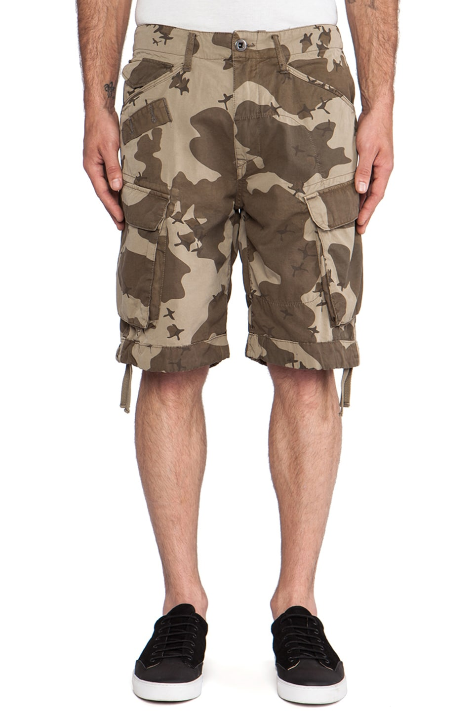 G-Star Rovic Field Loose Bermuda Border Camo in Dune