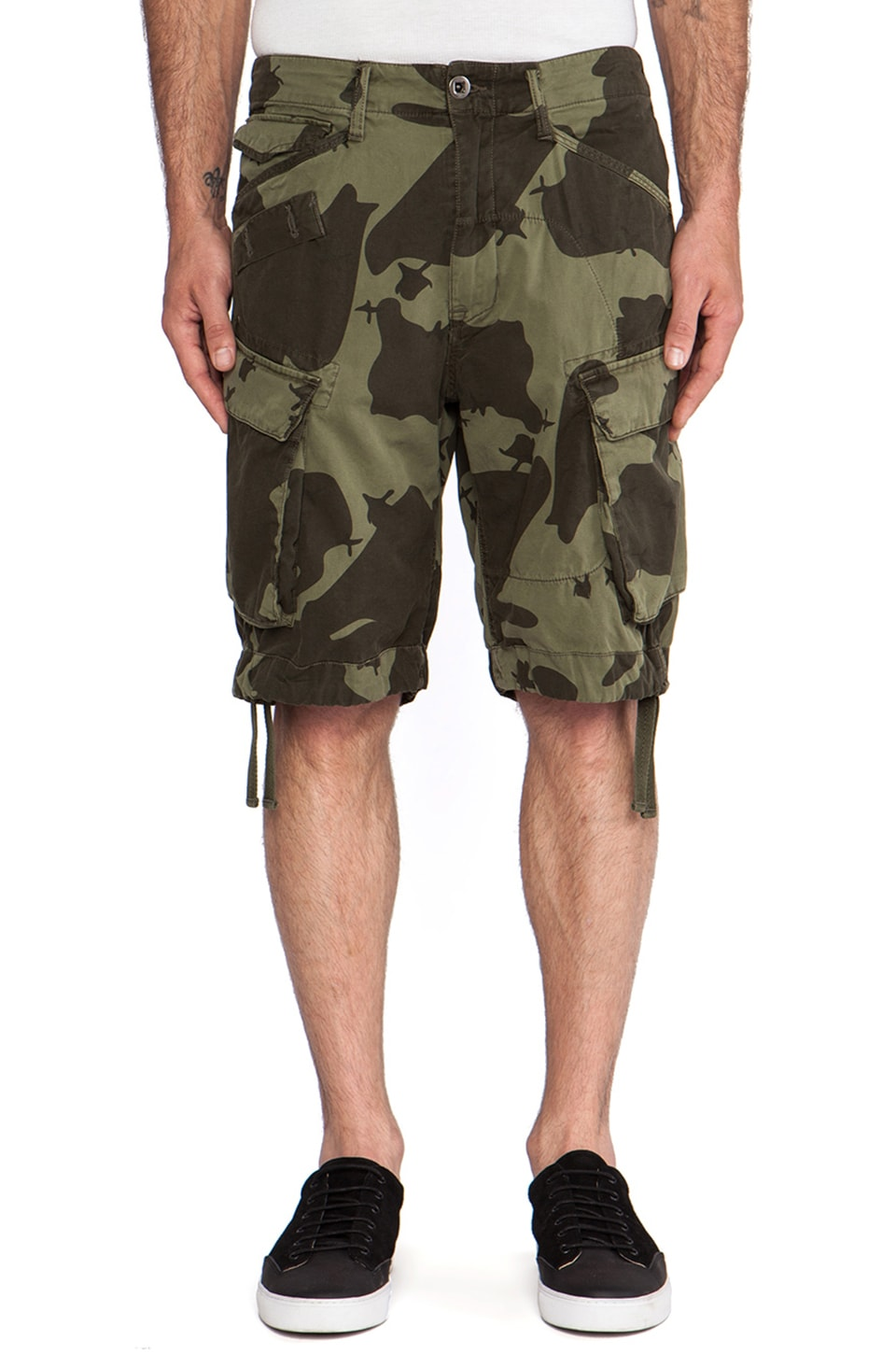 G-Star Rovic Field Loose Bermuda Border Camo in Sage