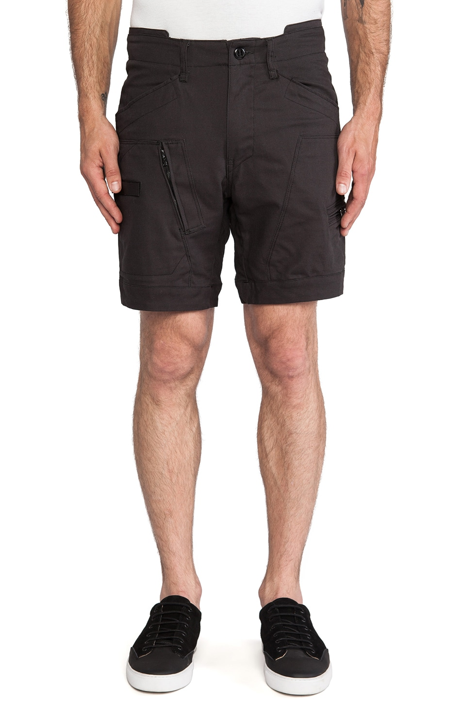 G-Star Powell Diamond Denim Short in Raven