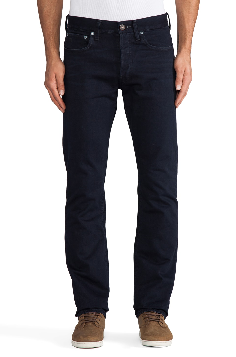 G-Star Raw 3301 Straight in Aluin Destroy Mazarine Blue