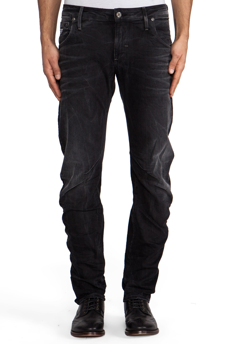 G-Star Arc 3D Slim in Comfort Vulcan Denim Dark Aged