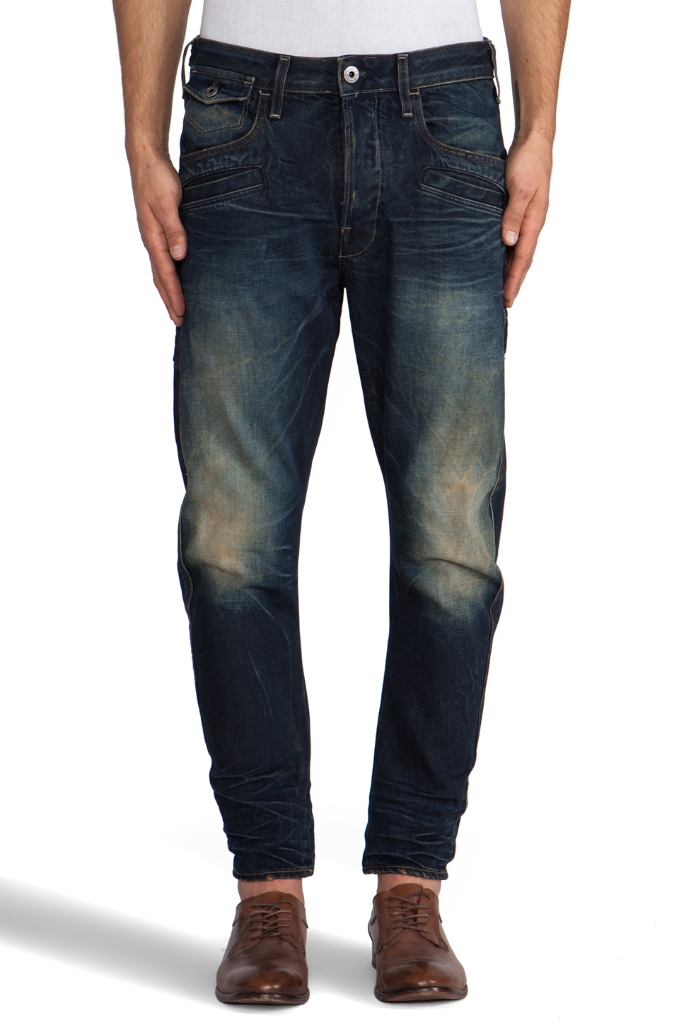 G-Star Davin 3D Loose Tapered in Blight Denim Dark Aged