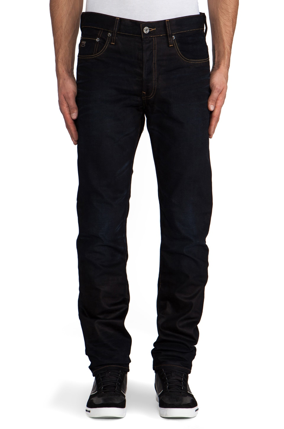 G-Star 3301 Straight in Lexicon Denim Indigo Aged