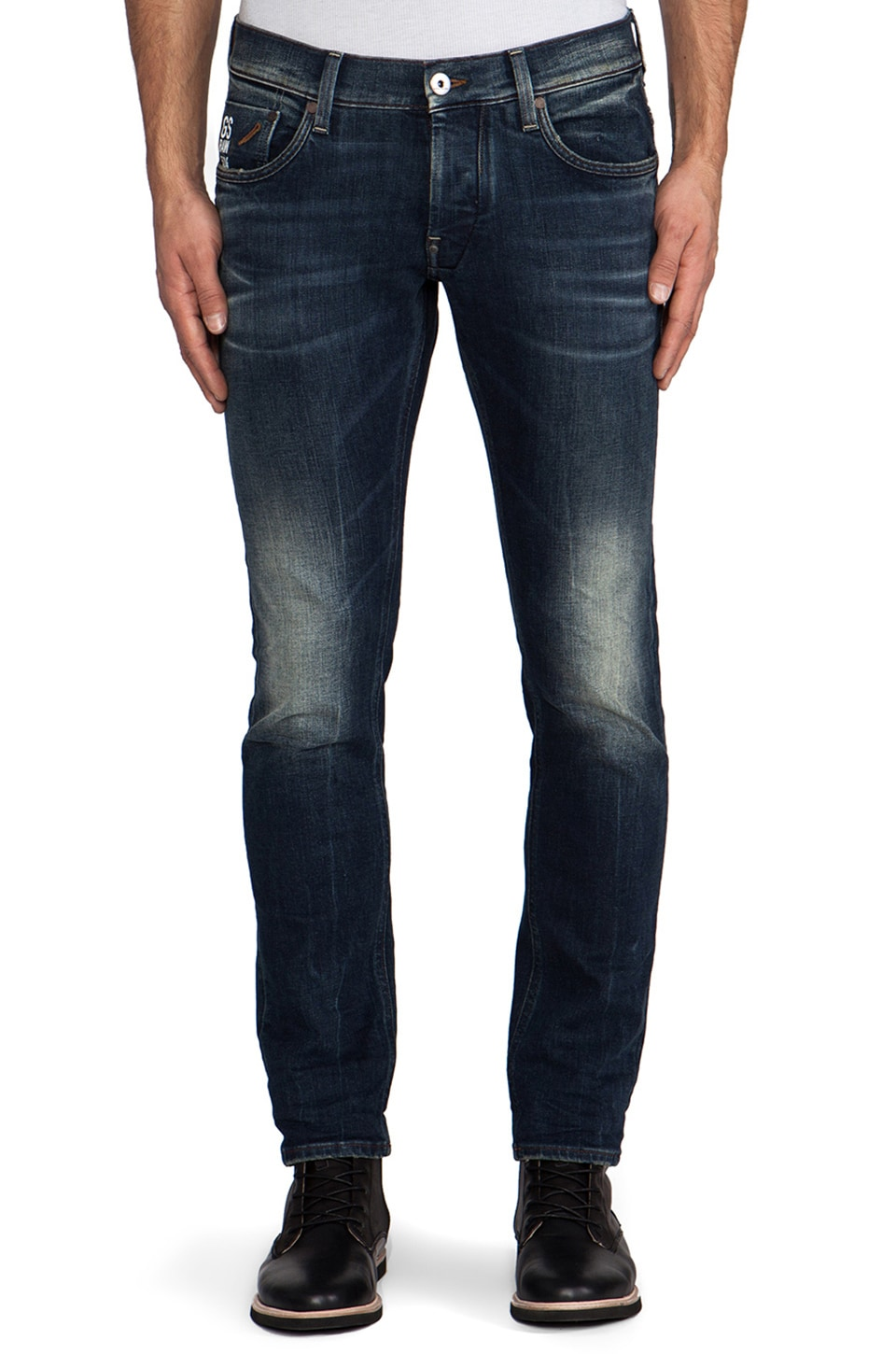G-Star Defend Super Slim in Comfort Stow Denim Medium Aged