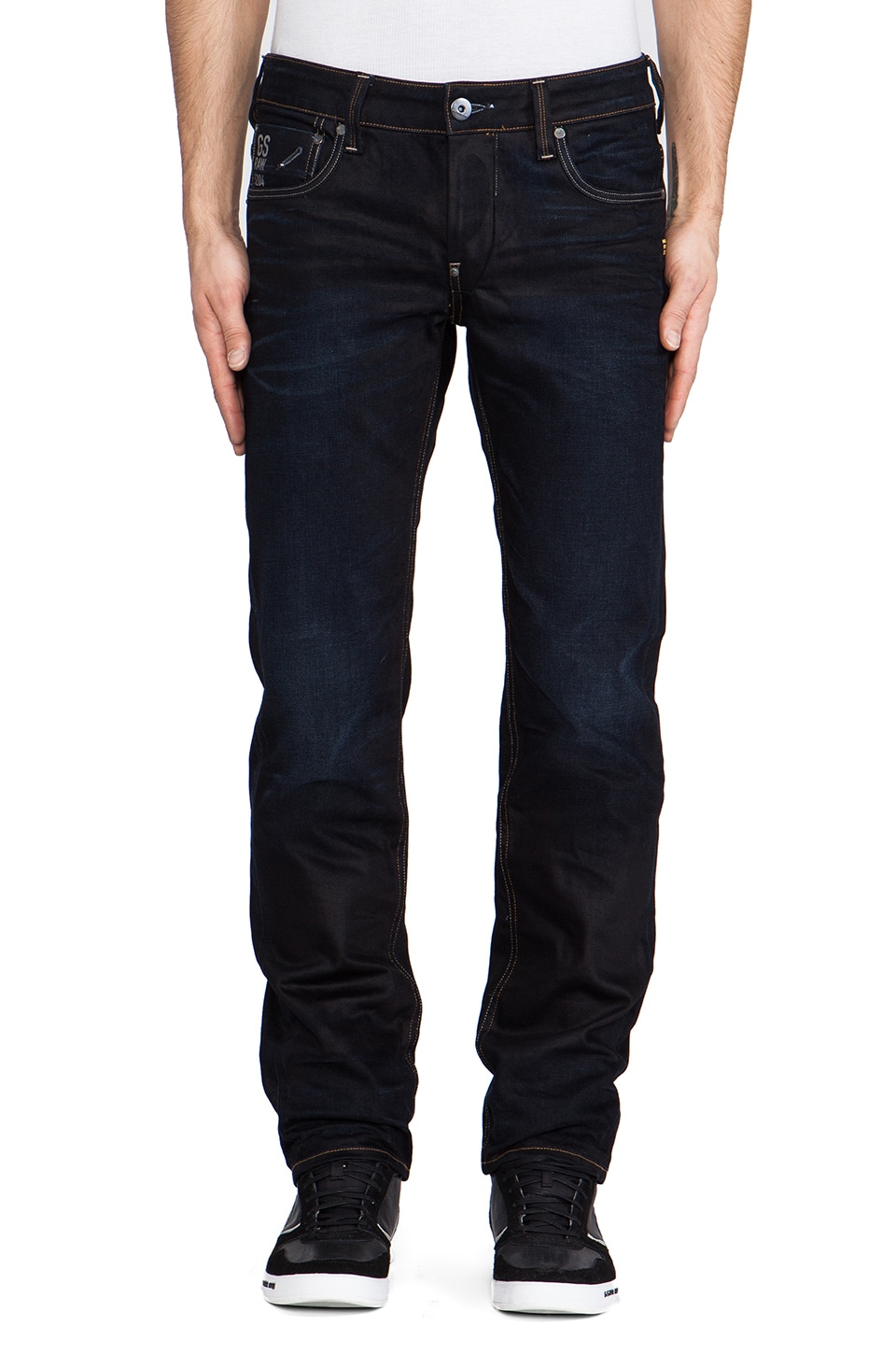 G-Star Attacc Low Straight Lexicon Denim in Indigo Aged