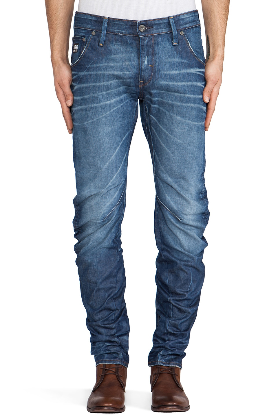 G-Star Arc 3D Slim Lexicon Denim in Medium Aged