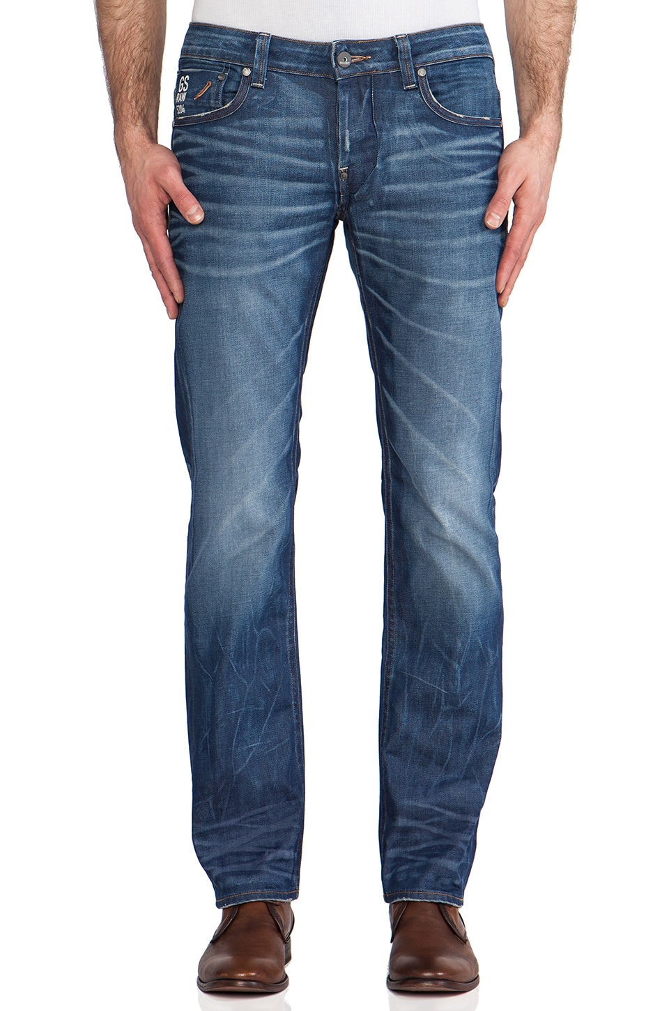 G-Star Attacc Low Straight Lexicon Denim in Medium Aged