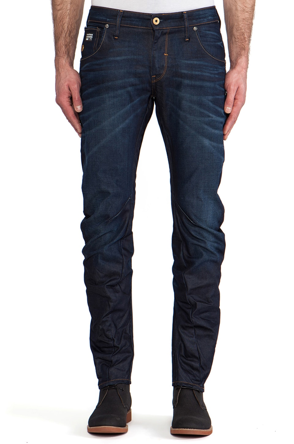 G-Star Arc 3D Low Slim Lexicon Denim in Dark Aged