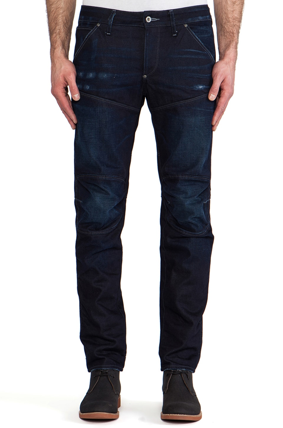 G-Star 5620 3D Low Tapered Bicc Denim in Dark Aged