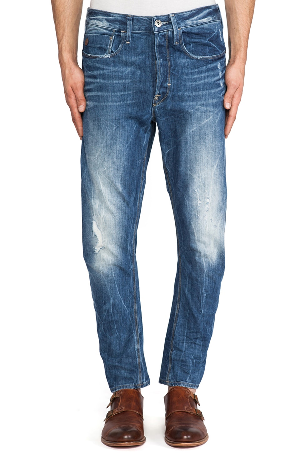 G-Star Type C 3D Loose Tapered Watton Denim in Medium Aged