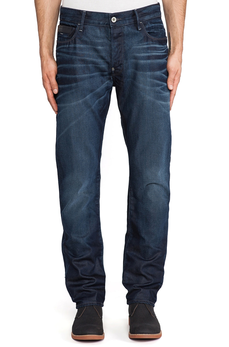 G-Star Blades Tapered Lexicon Denim in Dark Aged