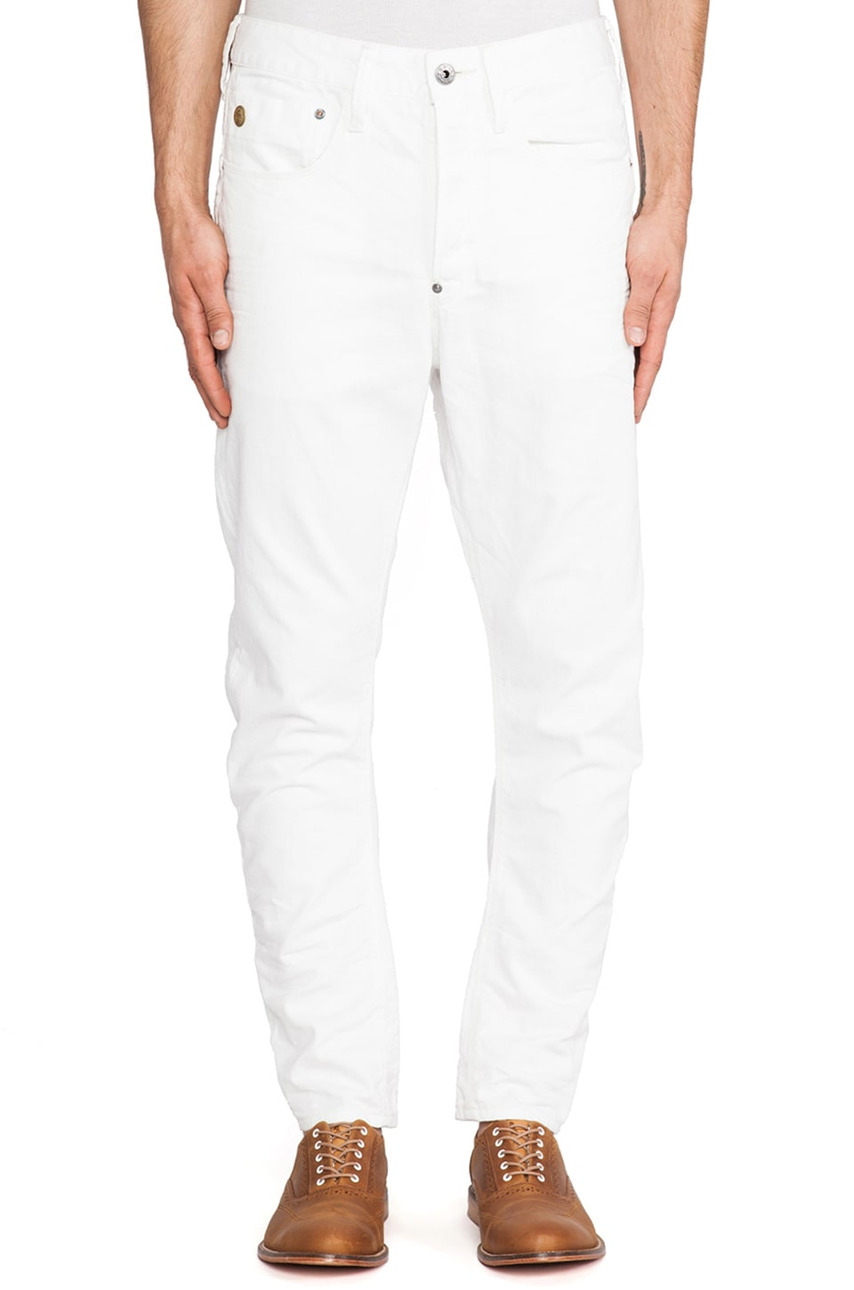 G-Star Type C Loose Tapered Format White Denim in 3D Raw