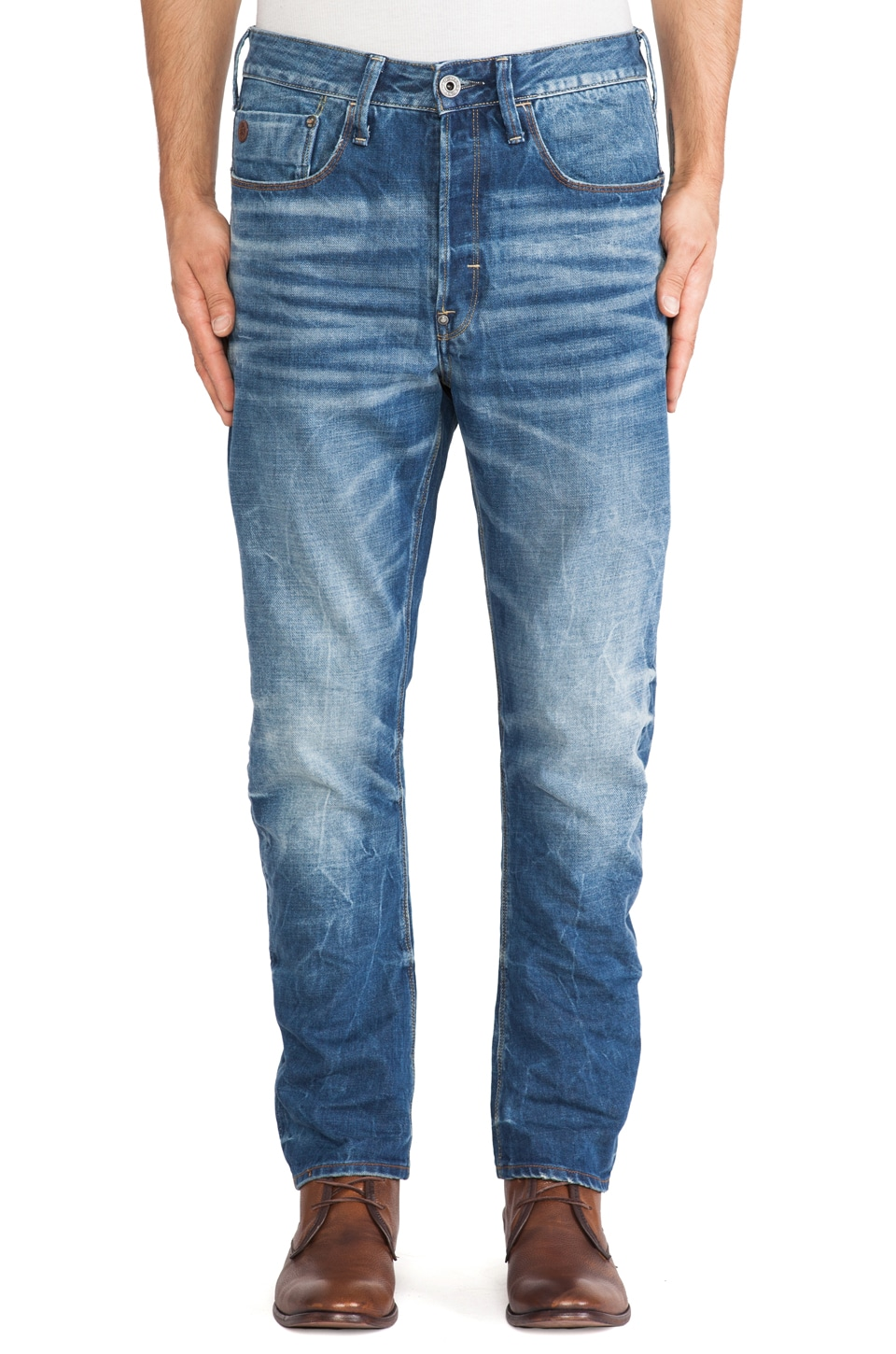 G-Star Type C 3D Loose Tapered Sheldy Denim in Medium Aged