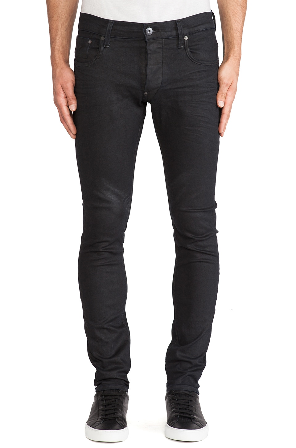 G-Star Defend Super Slim Comfort Pintt Denim in 3D Dark Aged