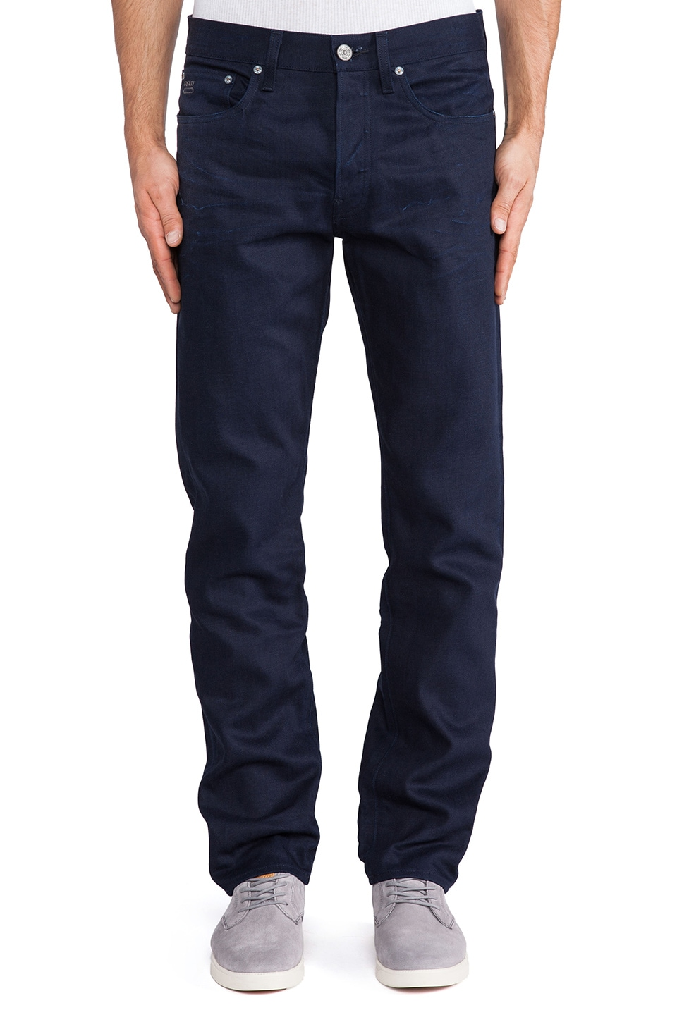 G-Star 3301 Straight Light Mazarine Denim in 3D Raw