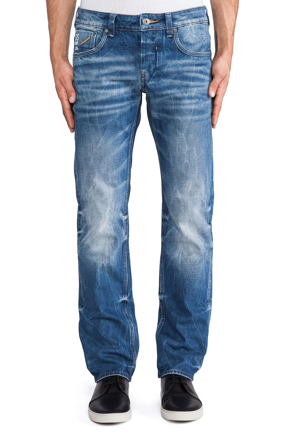 G-Star Attacc Low Straight Sheldy Denim in Medium Aged