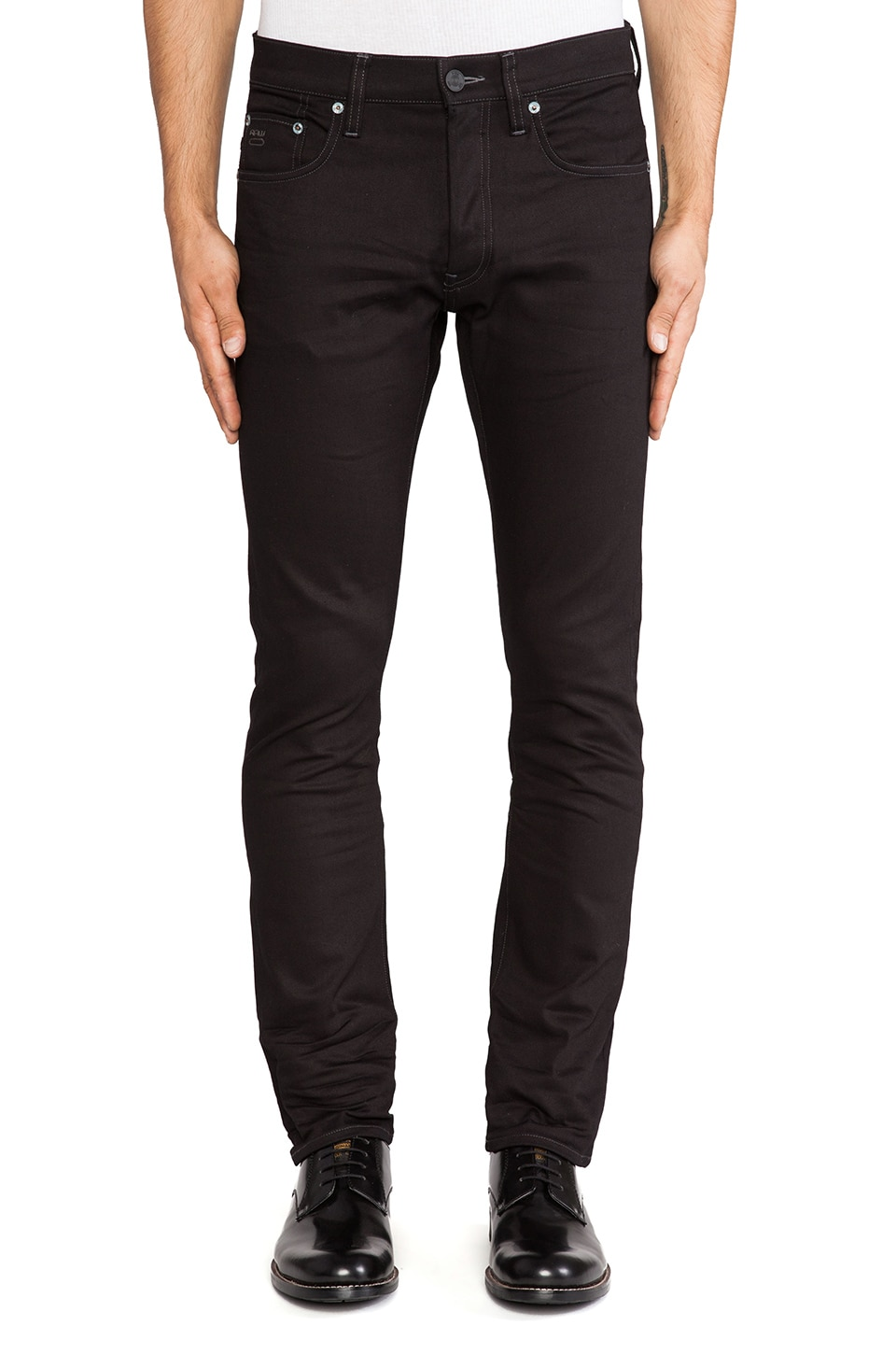 G-Star 3301 Slim Comfort Black Edington Denim in 3D Raw