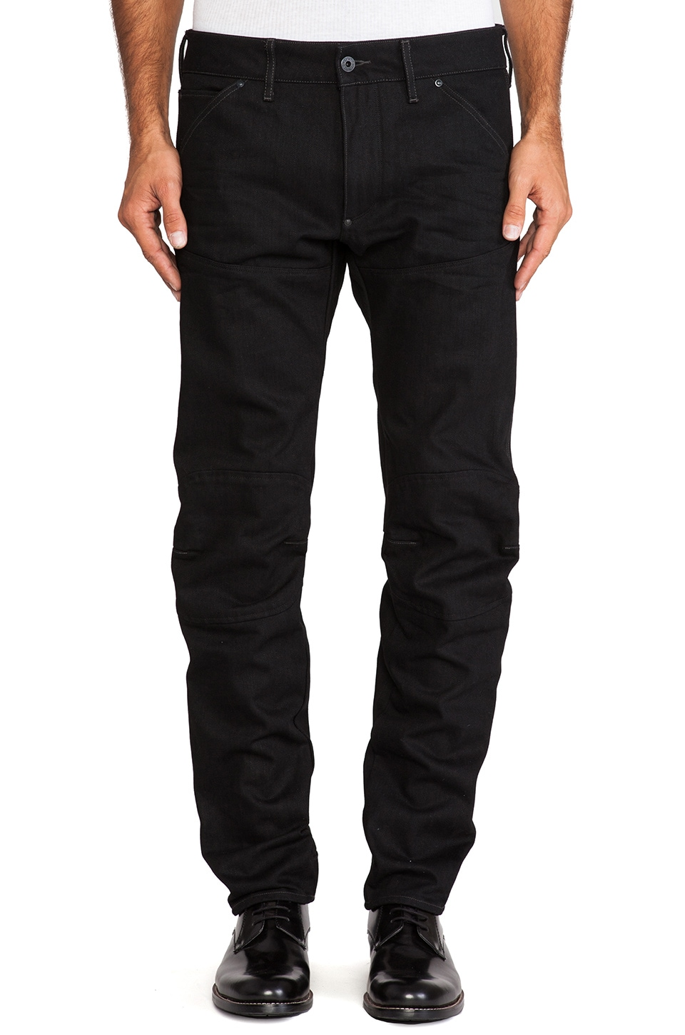 G-Star 5620 3D Low Tapered Black Drig Denim in 3D Raw