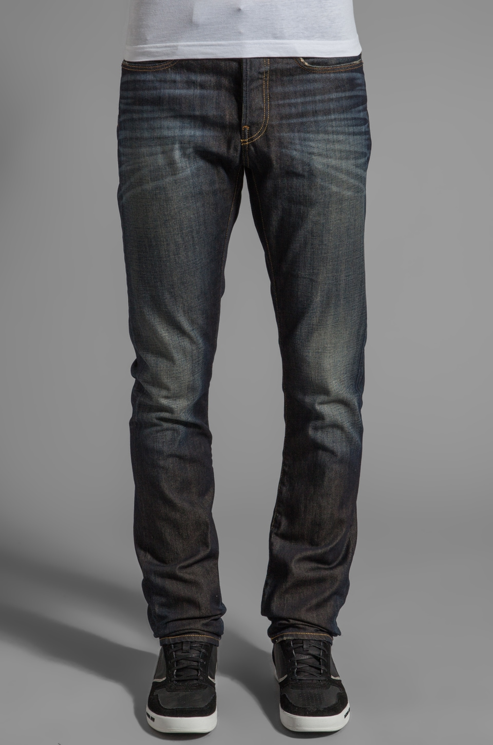 G-Star 3301 Slim in Fall Denim Vintage Aged