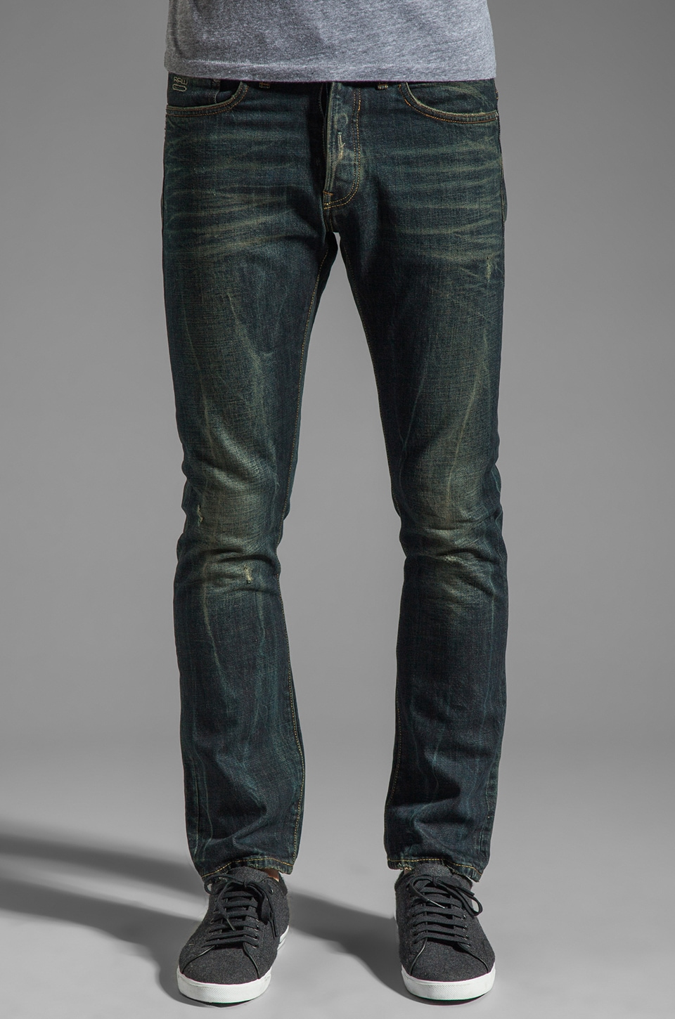 G-Star 3301 Slim in Contract Denim Worn In