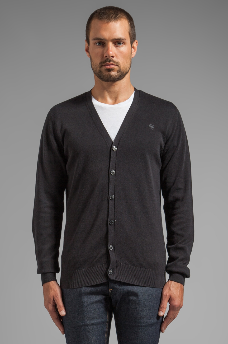 G-Star Map Cardigan in Black